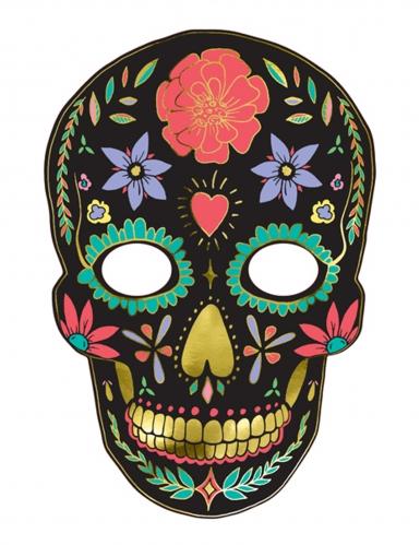 Kartonnen Dia de los Muertos masker