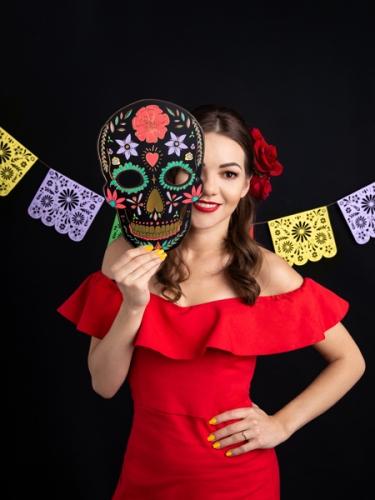Kartonnen Dia de los Muertos masker-1