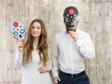 Kartonnen Dia de los Muertos masker-2