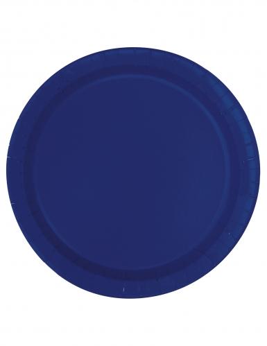 20 kleine kartonnen marineblauwe borden