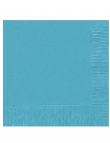 20 kleine papieren turkooisblauwe servetten