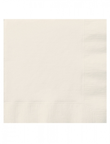 20 kleine papieren ivoorkleurige servetten
