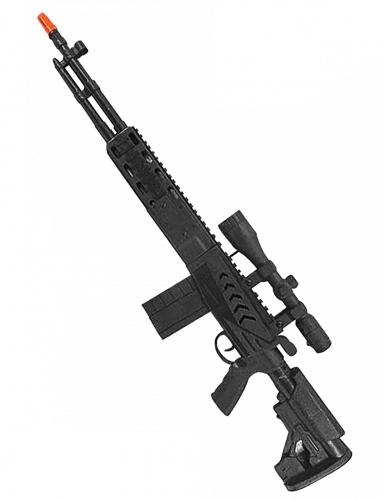 Zwart machinegeweer voor kinderen 71 cm