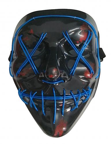 Blauw lichtgevend led masker voor volwassenen-1