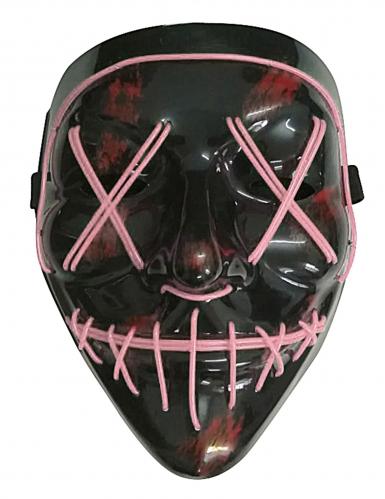 Fuchsia lichtgevend led masker voor volwassenen-1