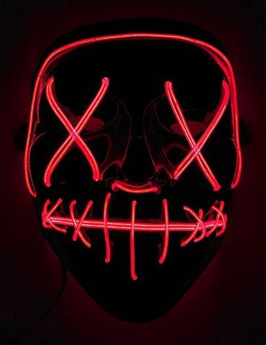 Rood lichtgevend led masker voor volwassenen