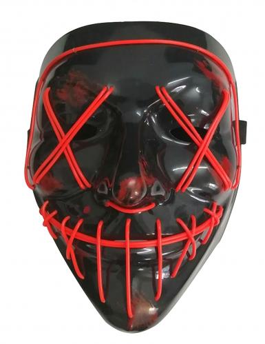 Rood lichtgevend led masker voor volwassenen-1