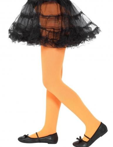 Oranje ondoorzichtige panty voor kinderen