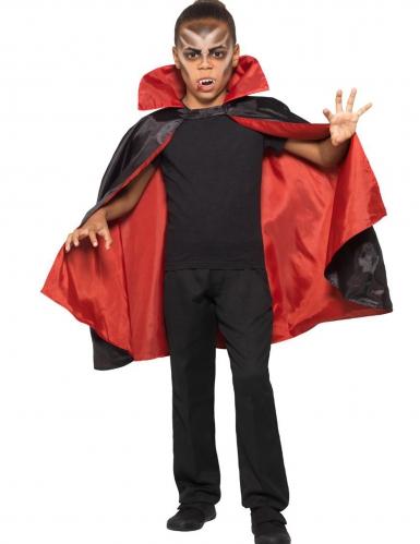 Satijnachtige omkeerbare vampier cape voor kinderen