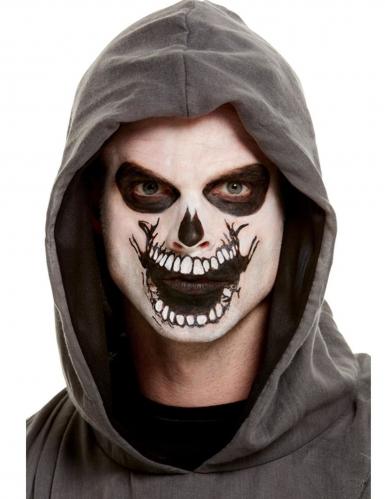 Skelet schmink set met mond tatoeage voor volwassenen