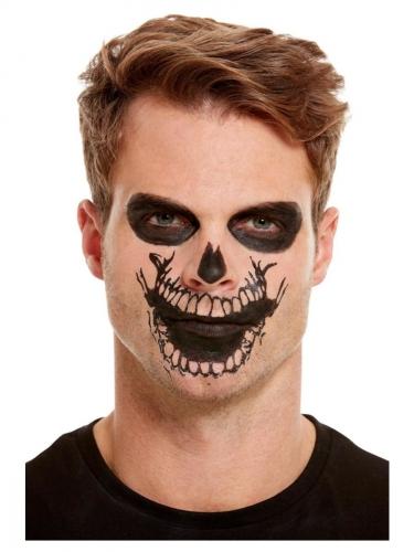 Skelet schmink set met mond tatoeage voor volwassenen-2