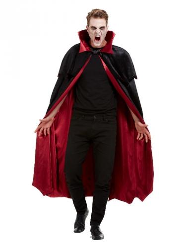 Luxe fluweelachtige vampier cape voor volwassenen