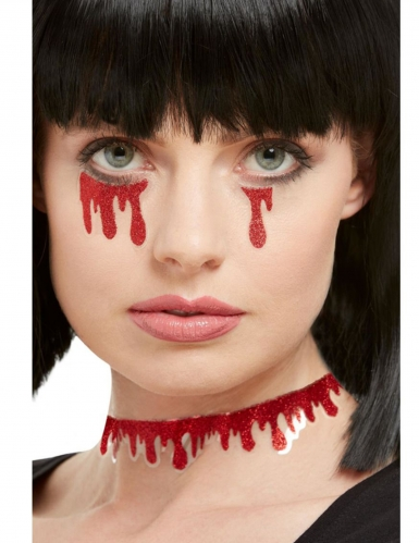 Glitter bloed stickers voor volwassenen