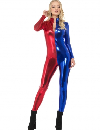 Sexy rood en blauw pak voor vrouwen