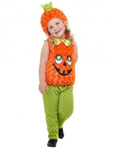 Pluche oranje pompoen kostuum voor kinderen
