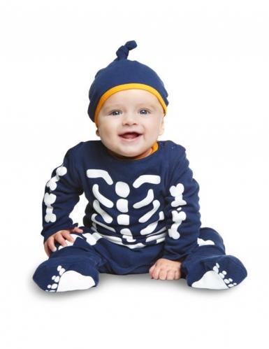 Klein blauw skelet kostuum voor baby's