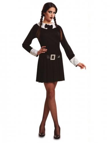 Duister gothic schoolmeisje kostuum voor vrouwen