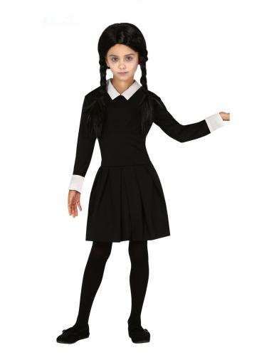 Zwart gothic meisje outfit voor kinderen