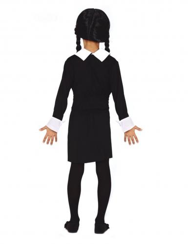 Zwart gothic meisje outfit voor kinderen-1