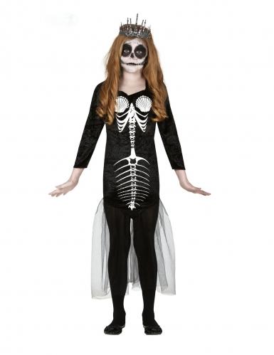 Zeemeermin skelet kostuum voor meisjes