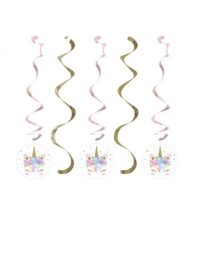 5 eenhoorn fee spiraaldecoraties