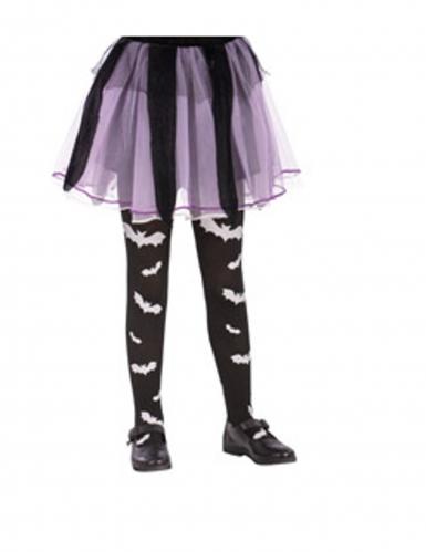 Zwarte vleermuis panty voor meisjes