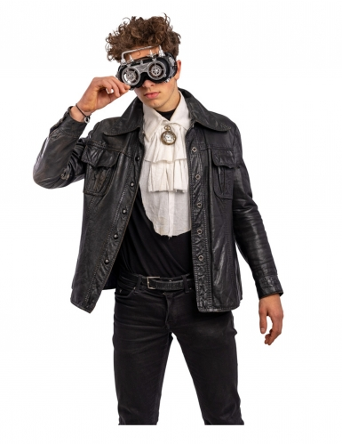 Grijze beweegbare steampunk bril voor volwassenen