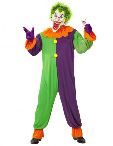 Psychopathische harlekijn outfit voor volwassenen
