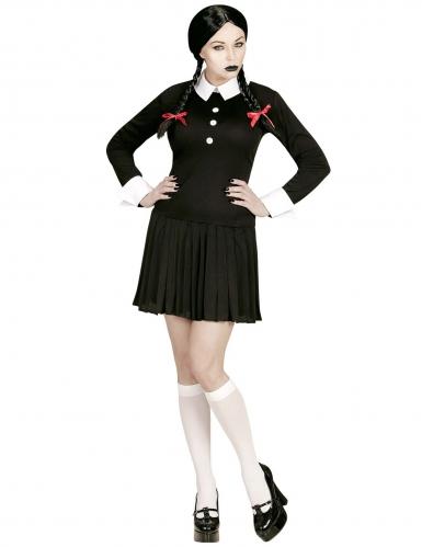 Zwart gothic schoolmeisje kostuum voor vrouwen-1