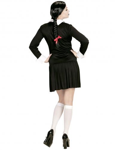 Zwart gothic schoolmeisje kostuum voor vrouwen-2