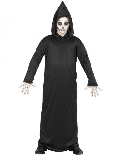 Zwart reaper skelet outfit voor kinderen