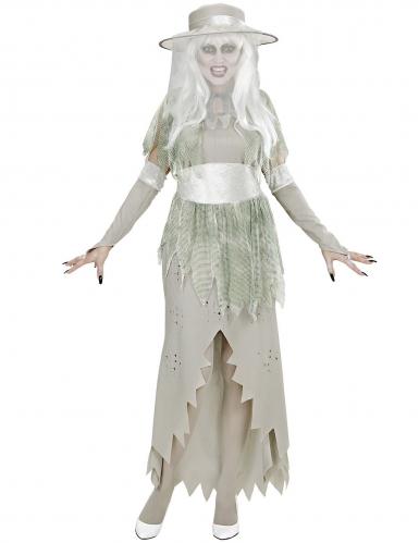 Wit spook dame kostuum voor vrouwen-1