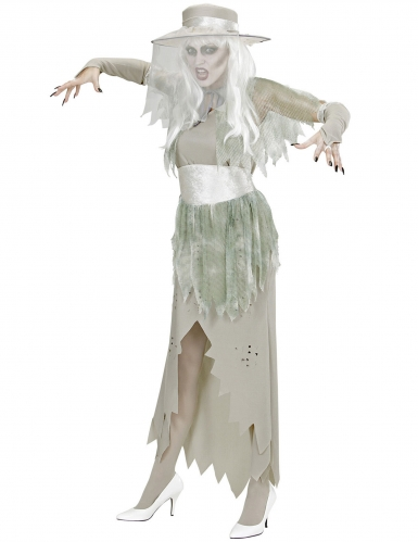 Wit spook dame kostuum voor vrouwen-2