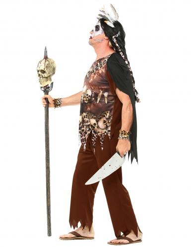 Bruine voodoo priester outfit voor volwassenen-1