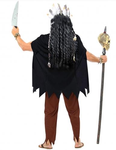 Bruine voodoo priester outfit voor volwassenen-2