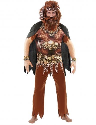 Bruine voodoo priester outfit voor volwassenen-3