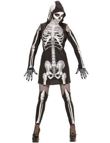 Skelet kostuum met beenwarmers voor vrouwen-1