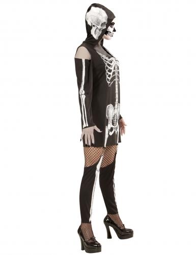 Skelet kostuum met beenwarmers voor vrouwen-2