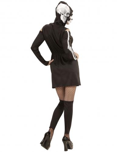 Skelet kostuum met beenwarmers voor vrouwen-3