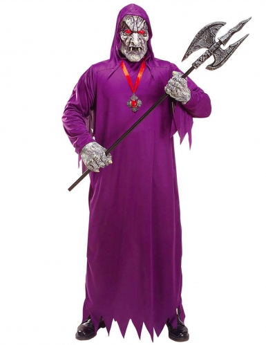 Paars zombie reaper kostuum voor volwassenen