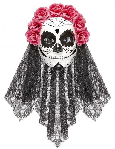 Dia de los Muertos masker met sluiers voor volwassenen