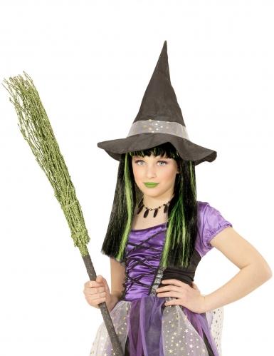 Heksenpruik met groene lokken voor meisjes-1