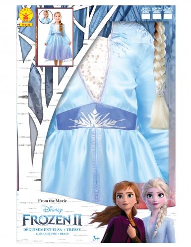 Elsa Frozen 2™ kostuum pack met vlecht voor meisjes-4