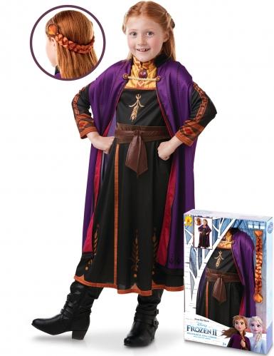 Anna Frozen 2™ kostuum en vlecht pack voor meisjes