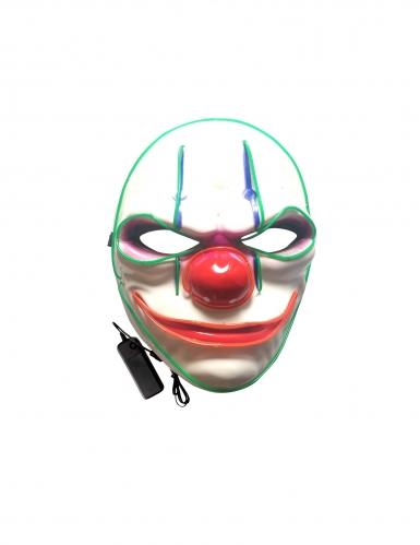 Evil clown led masker voor volwassenen