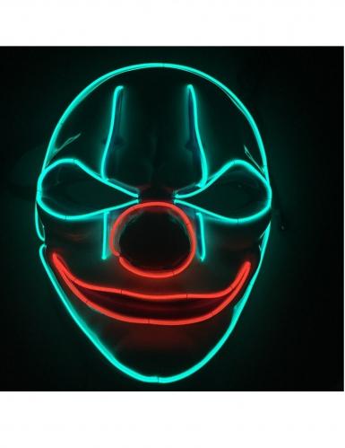 Evil clown led masker voor volwassenen-1