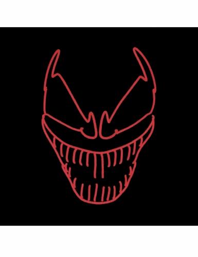 Luxe evil clown LED masker voor volwassenen-1