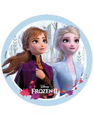 Frozen 2™ taartschijf Anna en Elsa 18,5 cm