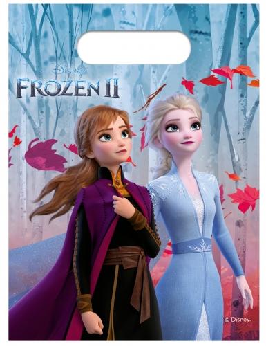 6 plastic Frozen 2™ cadeauzakjes