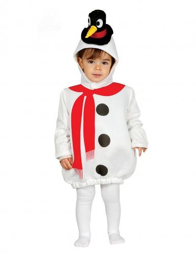 Sneeuwpop kostuum met pinguin hoed voor baby's